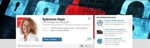 Profiel Sybrenne Haye met headerfoto