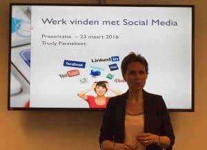 Werk vinden met Soc Media UWV Trudy Pannekeet