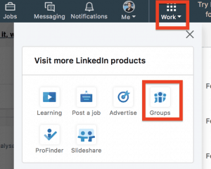 Waar vind je LinkedIngroepen nu op je Desktop