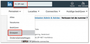 Post in LinkedIngroep 4x beter gelezen - Trudy Pannekeet - Zoek naar LinkedIngroep, selecteer Groepen