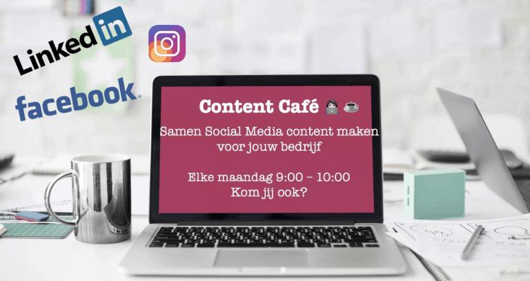 Content Café Samen aan jouw social media werken - Trudy Pannekeet