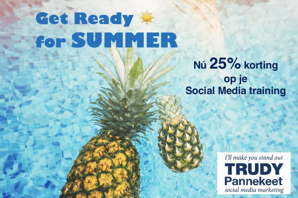 Social Media trainingen Trudy Pannekeet - zomerkorting