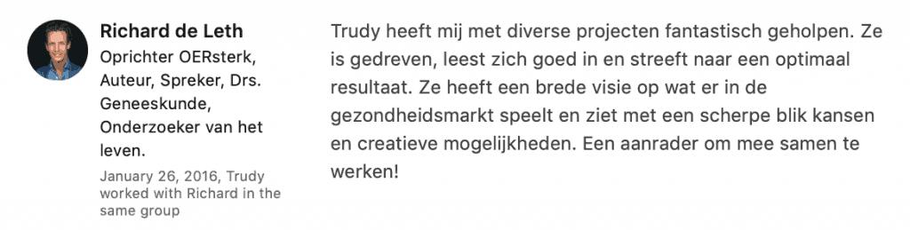 Marketing coaching voor ondernemers zzp - Trudy Pannekeet