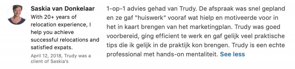 Marketing coaching voor ondernemers - Trudy Pannekeet Heikens