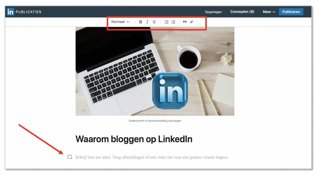 LinkedInblog - 2 hoe start je een blog - Trudy Pannekeet