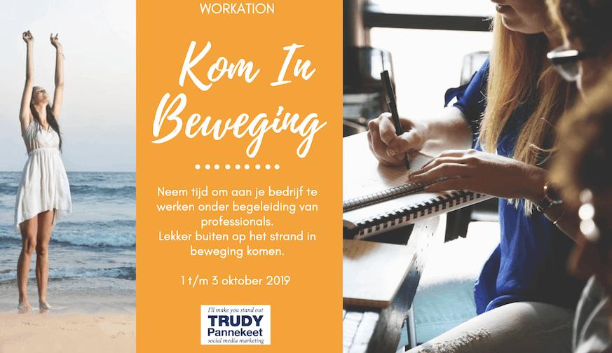 Werkantie Kom in beweging okt 2019 Marketingcoaching Trudy Pannekeet