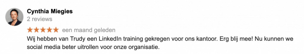 Recensie LI incompany training STAPP consultancy