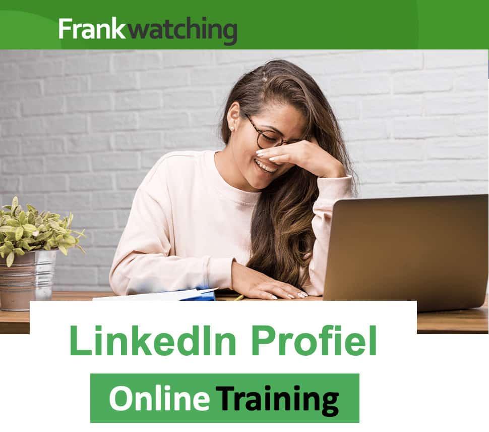 Frankwatching LinkedIn Training online LinkedIn profiel Trudy Pannekeet