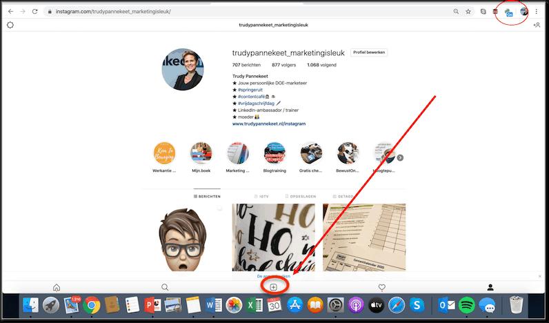 Instagram op je computer - Waar zit + om je foto te plaatsen