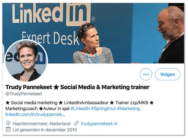 Twitter Volg Trudy Pannekeet op Twitter