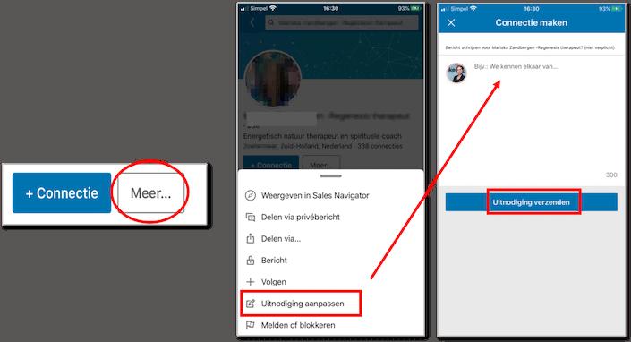 LinkedIn Persoonlijk uitnodigen op Mobiel 2020 WEB