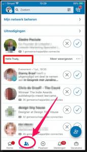 LinkedIn Waar vind je persoonlijke uitnodiging op mobiel