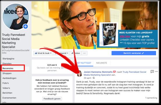 Facebook waar zitten je recensies - Trudy Pannekeet