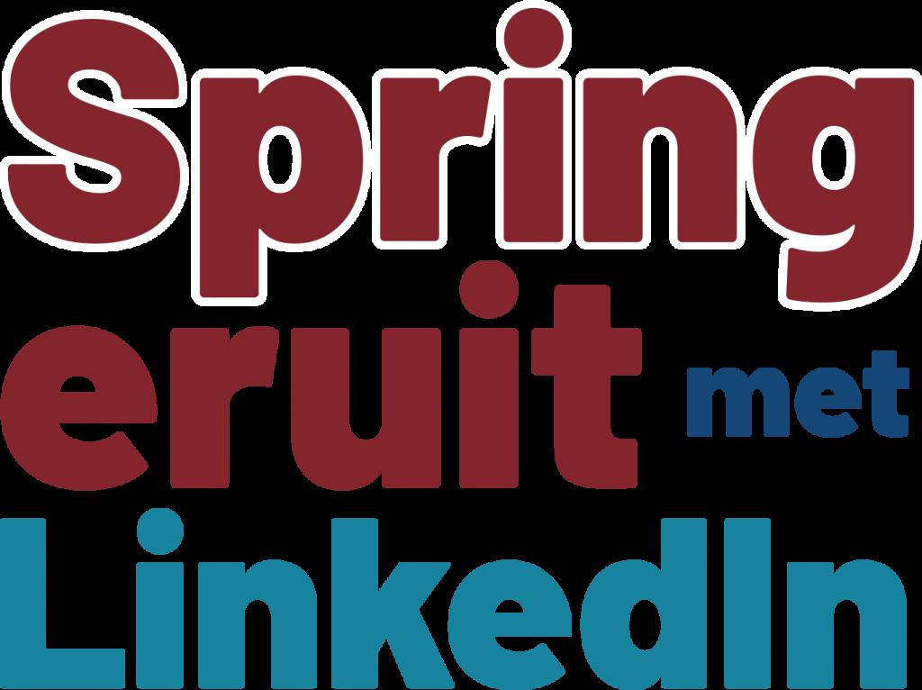 Spring eruit met LinkedIn - Trudy Pannekeet - titel